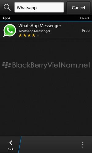 whatsapp su blackberry z10