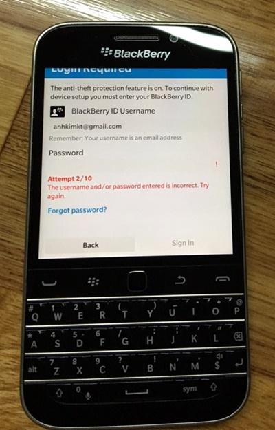 THỦ THUẬT - Gỡ bỏ BlackBerry Protect trên OS 10 3 3 nhanh chóng và