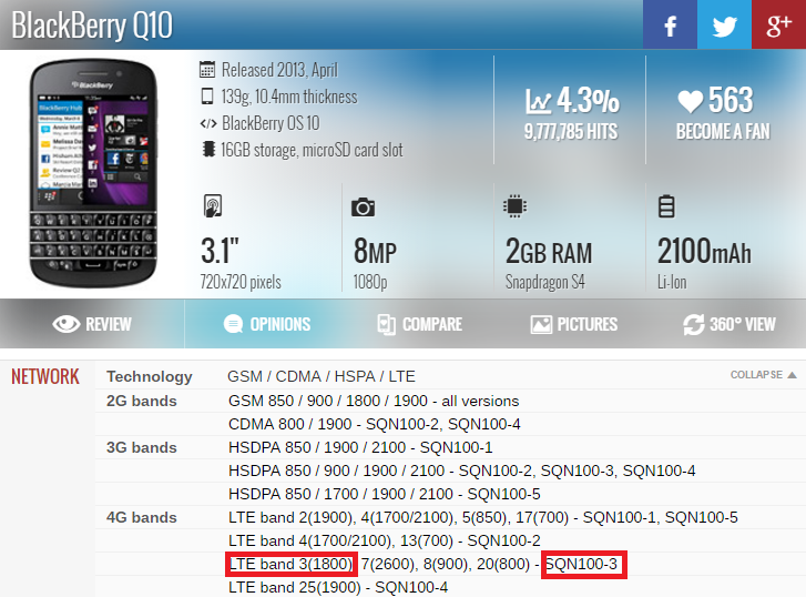 >> Chi tiết sản phẩm Blackberry Q10<<