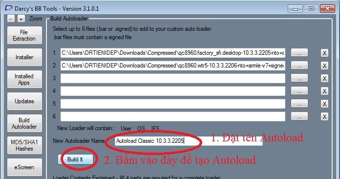 HƯỚNG DẪN - Hướng dẫn tạo Autoload bằng DBBTools 3 1 0 1 | Cộng đồng