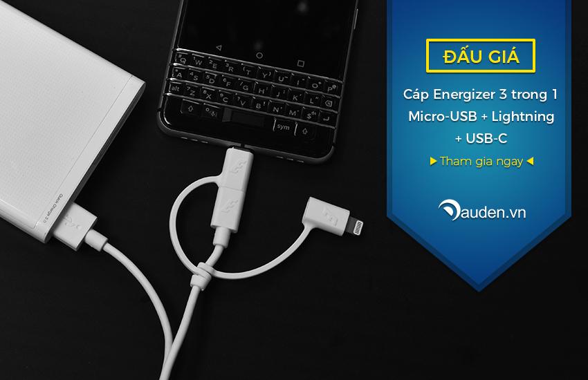 [Đấu giá] Cáp Energizer 3 trong 1 Micro-USB + Lightning + USB-C   KT: 15h00 20/07/17