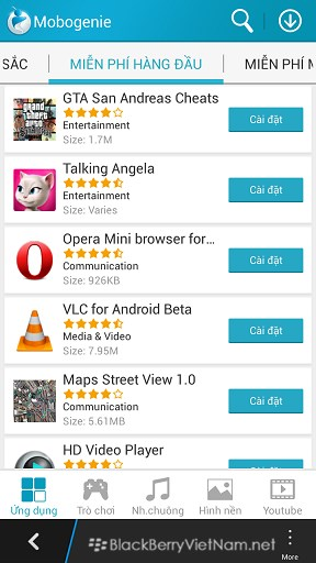 ANDROID APP - Mobogenie - Download ứng dụng Android và video chất