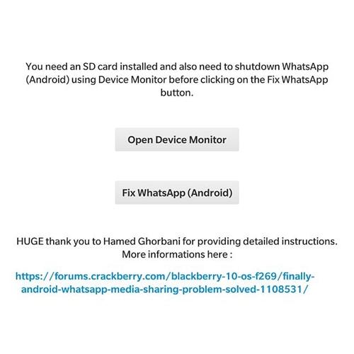 HƯỚNG DẪN - Cài đặt và fix lỗi của Whatsapp trên Blackberry