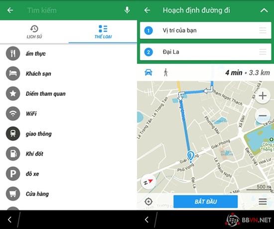 NATIVE - [BB10]MAPS ME -Ứng dụng chỉ đường, du lịch đơn giản