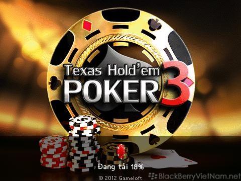 Texas hold'em poker blackberry