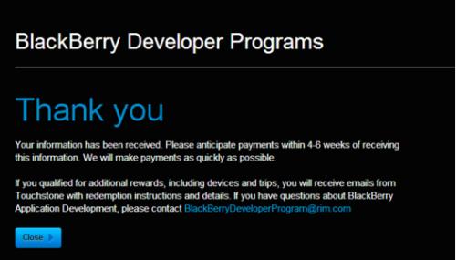 BlackBerry sẵn sàng thanh toán 4 triệu USD cho các nhà phát triển