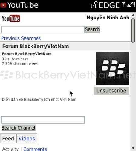 HƯỚNG DẪN - Làm thế nào để xem được video Youtube trên BB của bạn