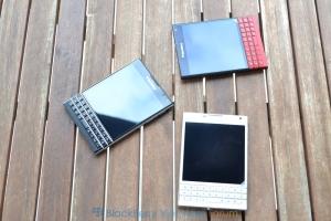 So sánh sự khác nhau của BlackBerry Passport đỏ, đen, trắng