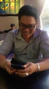 Hình ảnh cà phê trải nghiệm BlackBerry Classic màu Xanh Coban
