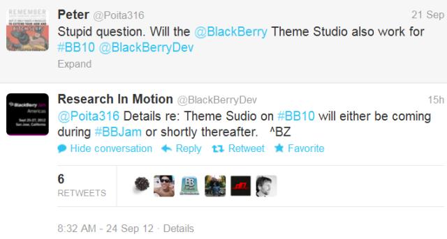 RÒ RỈ - Sẽ có Theme Sudio cho BlackBerry® 10