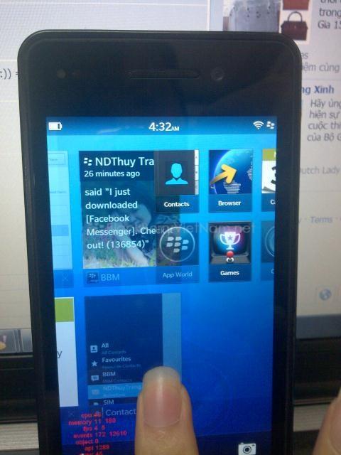 Trên tay Dev Alpha với BlackBerry® 10 bản cập nhật R9